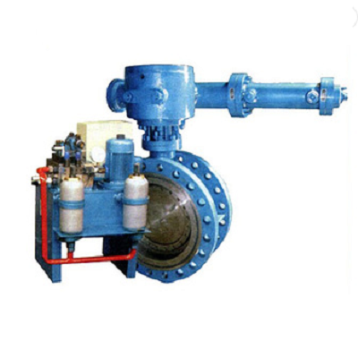 Electric-Hydraulic Operated Quick Closing Triple-Eccentric Butterfly Valve, PN10, PN16